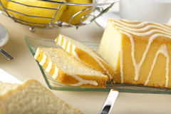 Lemon cake closeup Royalty Free Stock Photos