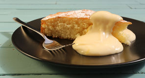 Lemon cake with lemon cream Royalty Free Stock Photo