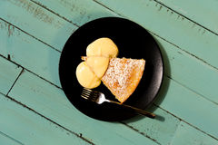 Lemon cake with lemon cream Stock Images