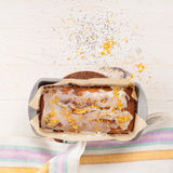 Lemon cake with poppy seeds Royalty Free Stock Images