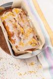 Lemon cake with poppy seeds Stock Image
