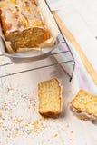 Lemon cake with poppy seeds. Sliced. Stock Image