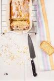 Lemon cake with poppy seeds. Sliced. Stock Photos