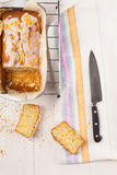 Lemon cake with poppy seeds. Sliced. Royalty Free Stock Photography