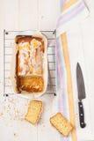 Lemon cake with poppy seeds. Sliced. Stock Images