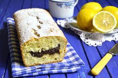 Lemon cake with poppyseed. Royalty Free Stock Image