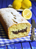 Lemon cake with poppyseed. Stock Image