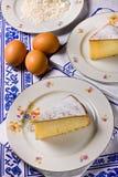 Lemon cake (slice) Royalty Free Stock Photo