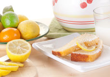 Lemon cake snack Stock Photography