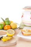 Lemon cake snack Stock Photos