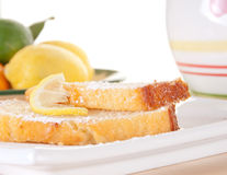 Lemon cake snack Royalty Free Stock Photos