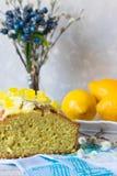 Lemon cake for tea Royalty Free Stock Images
