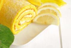 Lemon cake, texture Stock Photography