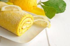 Lemon cake, texture Royalty Free Stock Image