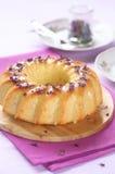 Lemon Cake with White Chocolate Glaze Royalty Free Stock Photos