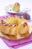 Lemon Cake with White Chocolate Glaze Royalty Free Stock Photo