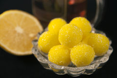 Lemon candies Stock Images