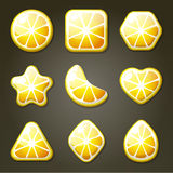 Lemon Candies For Match Three Game Stock Images