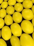 Lemon candy on a black background Stock Photos