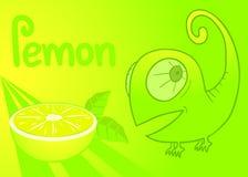 Lemon card Royalty Free Stock Images