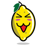 Lemon cartoon character Stock Image