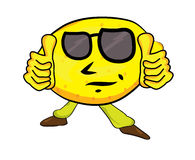 Lemon cartoon character Royalty Free Stock Photography