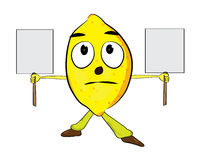 Lemon cartoon character Stock Photography