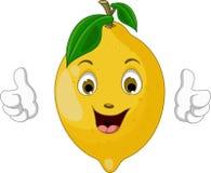 Lemon cartoon thumbs up Stock Image