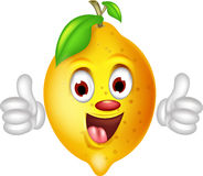 Lemon cartoon thumbs up Stock Photos