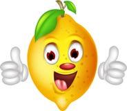 Lemon cartoon thumbs up Stock Photos