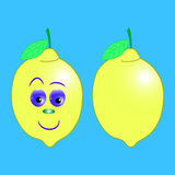 Lemon cartoon vector Stock Images