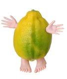 Lemon character. Isolated on white background Royalty Free Stock Images