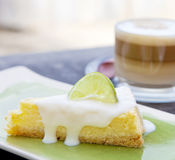 Lemon cheese cake Stock Images
