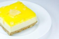 Lemon cheese cake stock image