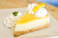 Lemon cheese cake or  lemon cheese pie Royalty Free Stock Photography