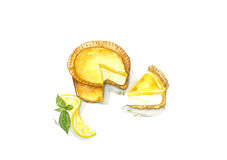 Lemon Cheese Tart Stock Photos