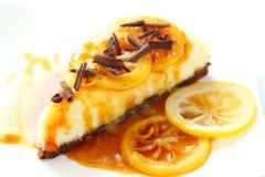 Lemon cheesecake Royalty Free Stock Photography