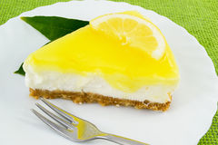 Lemon cheesecake Royalty Free Stock Photos