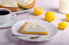 Lemon cheesecake delicious Royalty Free Stock Image