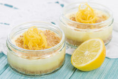 Lemon Cheesecake Stock Photography