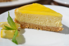 Lemon cheesecake Stock Photos