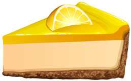 Lemon cheesecake on white Stock Photo