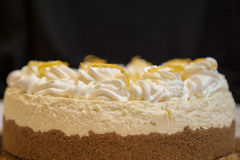 Lemon cheesecake with zest Royalty Free Stock Photo