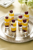 Lemon Cherry trifle Stock Photo