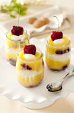 Lemon Cherry trifle Royalty Free Stock Images