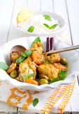 Lemon chicken with apricot Royalty Free Stock Images