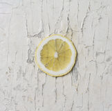 Lemon on the chipped paint Stock Photography