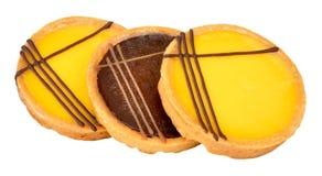 Lemon And Chocolate Dessert Tarts Stock Photography