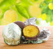 Lemon chocolate Stock Images