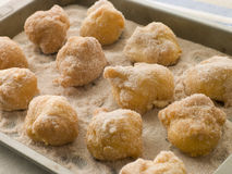 Lemon and Cinnamon Souffle Fritters royalty free stock image